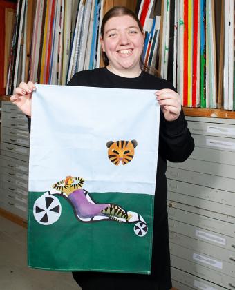 Dish towel by Brenda van Vliet Design 1