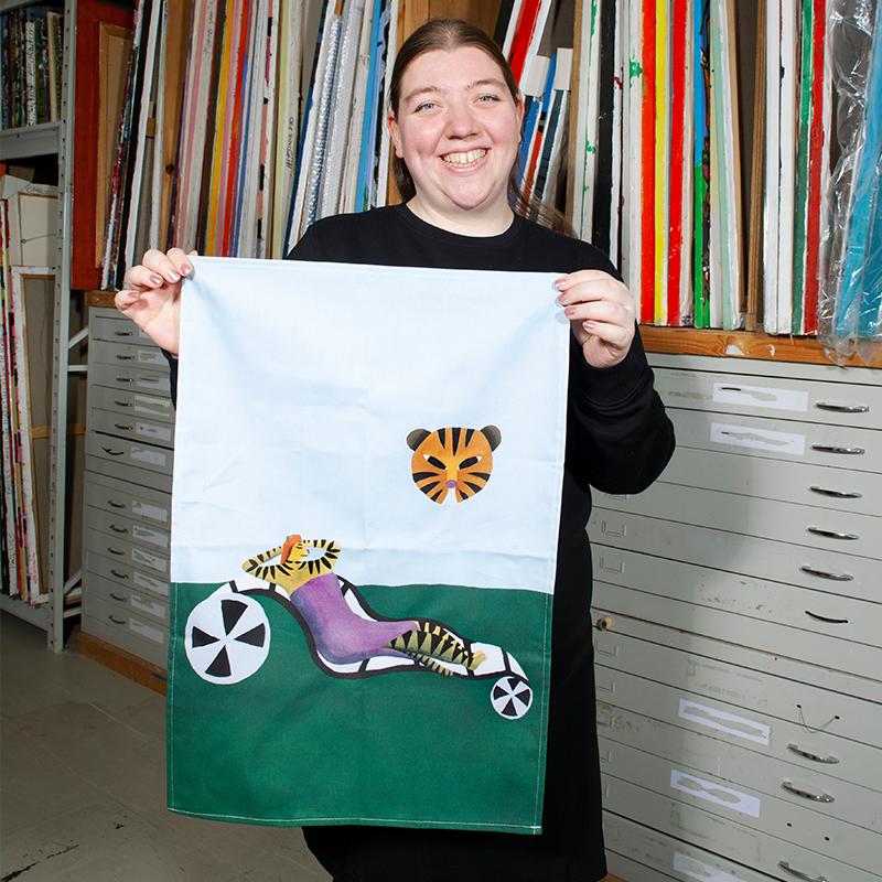 Dish towel by Brenda van Vliet purple
